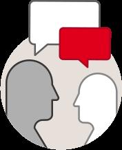 Ícone consultoria, apoio e aconselhamento
